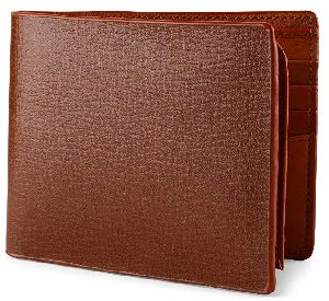 Mens Italian Leather Red Wallet