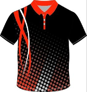 Sublimation Collar T-shirt