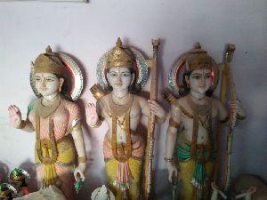 5.5 Feet White Marble Ram Darbar Statue