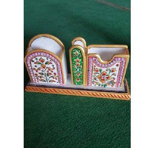 Marble Pen Stand with Card Holder