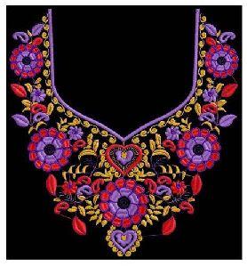 Neck Embroidery Design