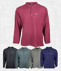 Mens Full Sleeve Cotton Short Kurta