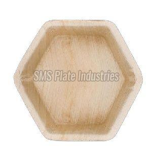 Hexagonal Areca Leaf Plate