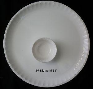 Plastic Fiber Buffet Plate