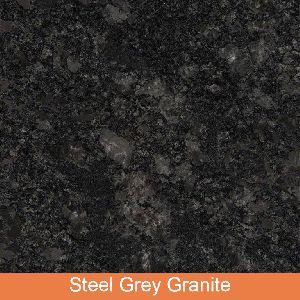 Polished Steel Grey Granite Slab thickness: 15 - 20 mm