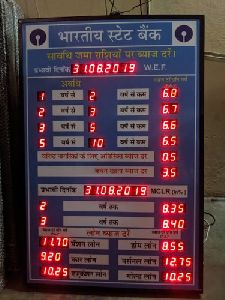 Interest Rate LED Display Board