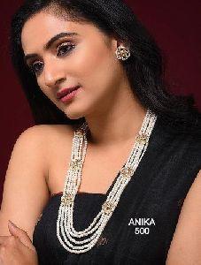 Onyx Kundan Necklace Set