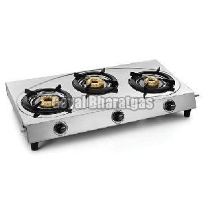 Stainless Steel 3 Burner LPG Gas Stove