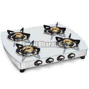 Stainless Steel 4 Burner LPG Gas Stove