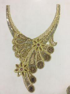 Gold Designer Neck Patch