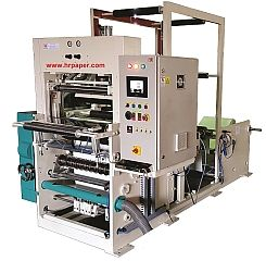 Thermal Paper Slitting Machine with One Colour Flexo Printing Unit (HR SR 120 FP)