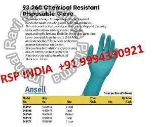 93-260 Chemical Resistant Disposable Gloves
