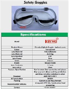 Safety goggles anti splash anti fog