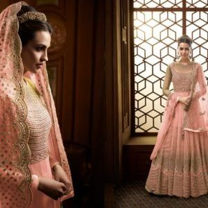 Designer Glossy Gown