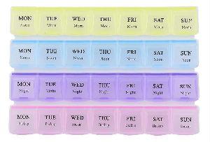 28 Days 4 Weeks Pill Medicine Box Organizer(Multicolor)