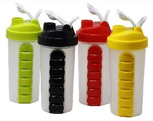 Pill Box Organizer Weekly Seven Compartments with Drinking Bottle (600ml)