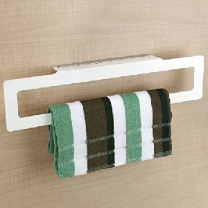 Towel Napkin Holder Ring Acrylic Bathroom Accessories for Home (14-Inch, White)