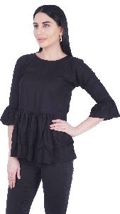 Party Bell Sleeve Solid Girls/Women Top