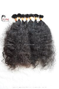 Indian Raw Unprocessed Bulk Hair (Natural Curly)