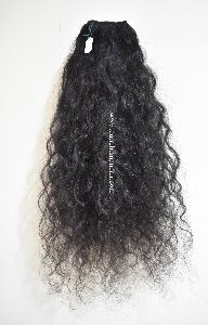 Indian Raw Unprocessed Weft Hair Bundles (Natural Curly)