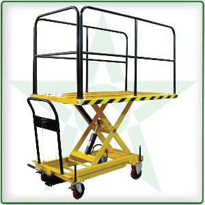 Scissor Truck With Hand Rails