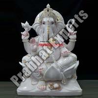 White Marble Statue Of Ganesh Ji