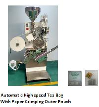 High speed tea bag machine with string & tag