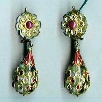 Ke - 009 Kundan Earrings