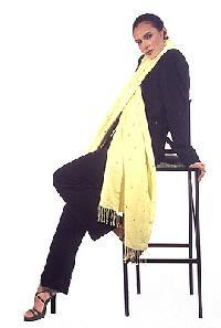 mirror work silk pashmina shawl