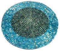 Glass Beaded Coaster (Blue Glass Beads)
