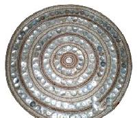 Glass Beaded Placemate (Ivory Glass Beads Natural Cell)
