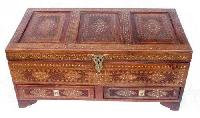 Wooden Trunk (big Trunk With 2 Drawer 509)