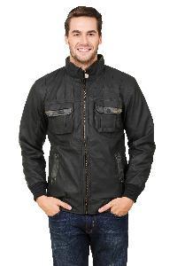 Hard Military Leather Jacket