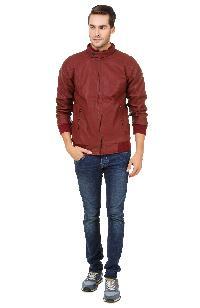 Mens Hard Leather Jacket