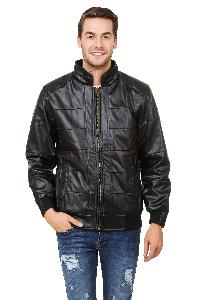 Pintex Black Shine Leather Jacket