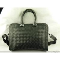 Intrecciato Calf-skin Leather Briefcase
