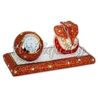Marble Ganesh and Watch