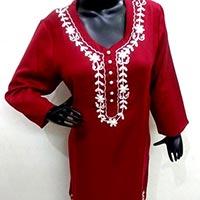 Embroidered Woolen Kurtis