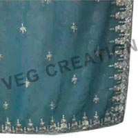 Silver Embroidery Works sarees
