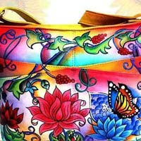 Leather Ladies Hand Painted Bags