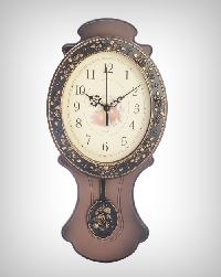 Brown Antique Wall Clocks with Pendulum