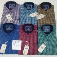Mens Check Cotton Shirts