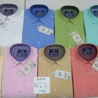 Mens Short Sleeves Cotton Shirts