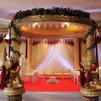 Fiber Golden Raj wedding Mandap