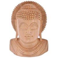 wooden buddha face