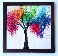 Acrylic canvas Tree painting