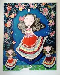 Acrylic Doll Painting