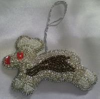 Christmas Rabbit Shape Decoration