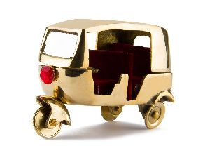 Antique Brass Auto Rickshaw