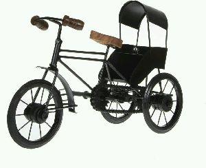 Antique Decorative Black Rickshaw